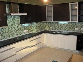 Кухня с фасадами пленочного мдф