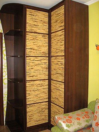Шкаф угловой, натуральный бамбук